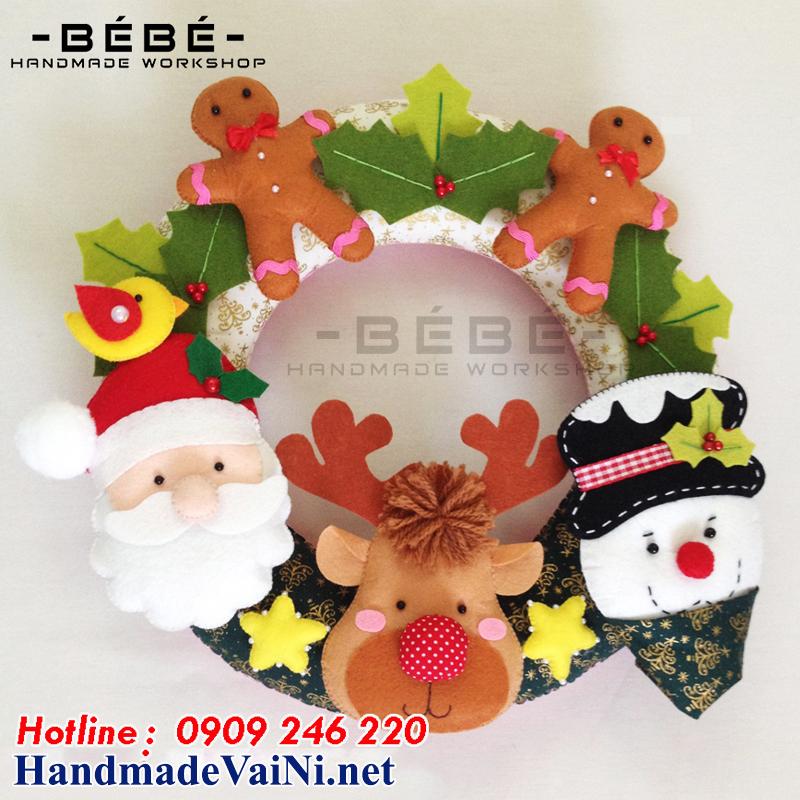 vòng trang trí noel handmade -NE02