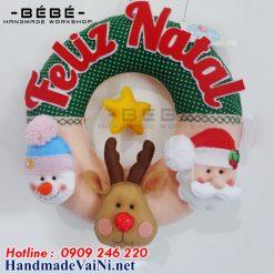 Vòng trang trí noel handmade -NE05