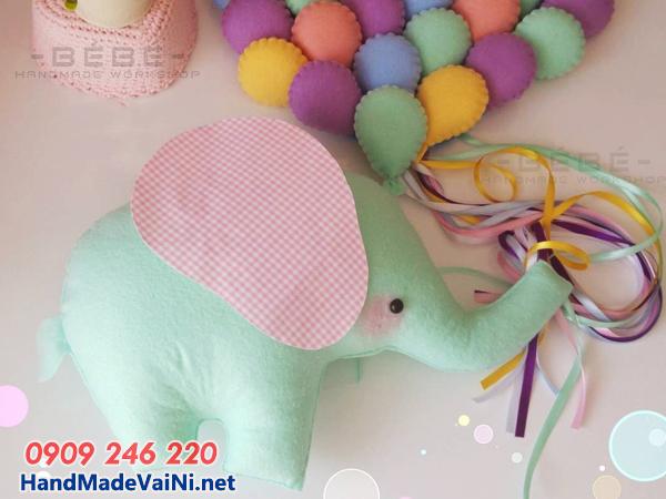 Vải nỉ là nguyên liệu làm đồ handmade,thú bông,Vòng chữ cho bé