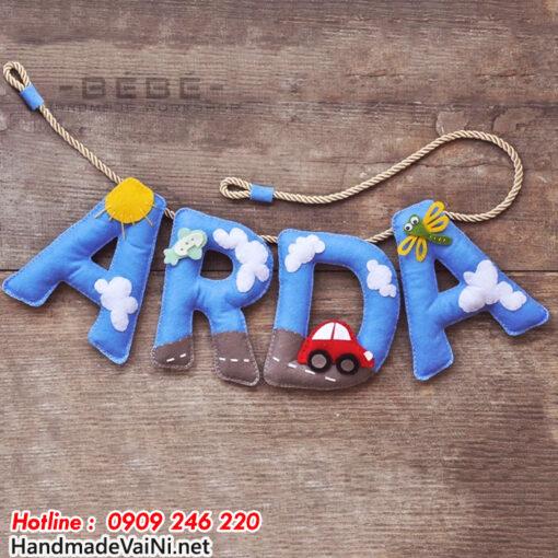 Dây chữ happy birthday bằng vải nỉ - DC01