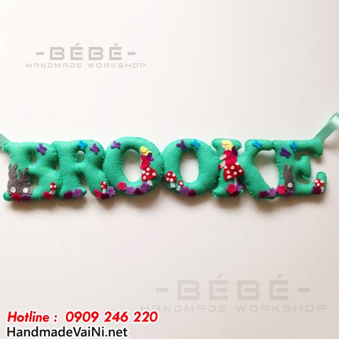 Dây chữ happy birthday bằng vải nỉ - DC02