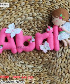 Bảng tên trang trí cửa phòng handmade cho bé gái BT10