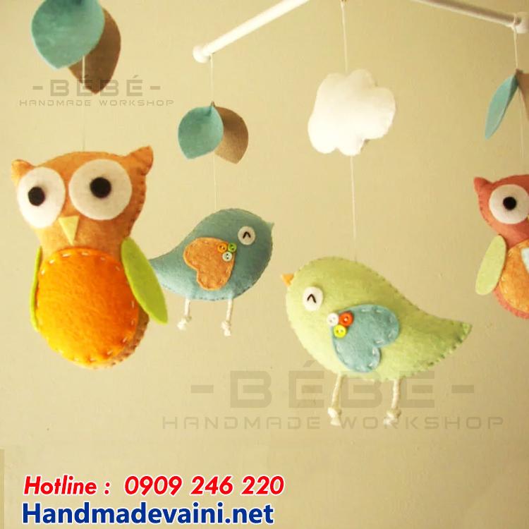 Đồ chơi treo nôi chim cú mèo handmade DC13
