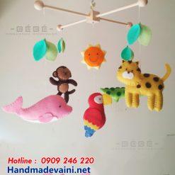 Đồ chơi treo nôi handmade vườn thú DC10