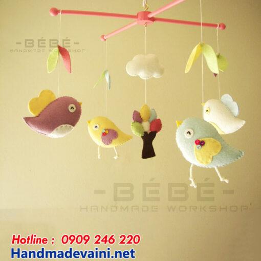 Đồ chơi treo nôi cũi vườn chim handmade DC12