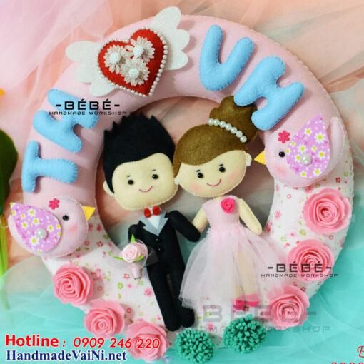 Quà cưới handmade ý nghĩa tặng cô dâu chú rể QC02