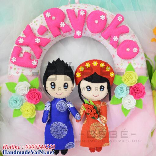 Quà tặng đám cưới handmade QC03 ý nghĩa thiết kế theo cầu