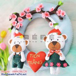 Quà cưới tặng cô dâu chú rể handmade QC06