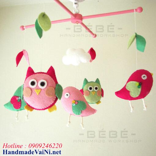 Đồ Chơi treo nôi handmade DC17 hình con chim