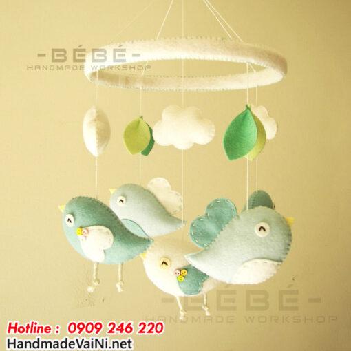 Đồ chơi treo nôi hình con chim handmade DC18