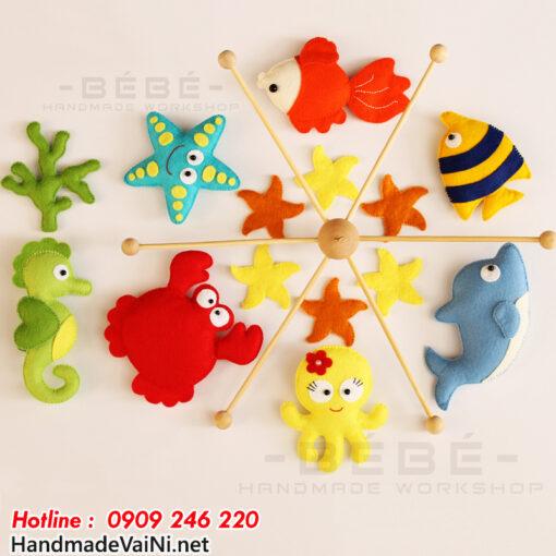 Đồ chơi treo nôi cũi handmade hình sinh vật biển DC23
