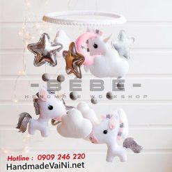 Đồ chơi treo nôi cũi ngựa Pony thiên thần dàng cho bé gái DC37
