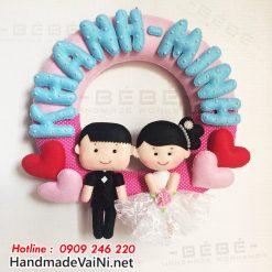Quà tặng đám cưới handmade cho cô dâu chú rể QC07