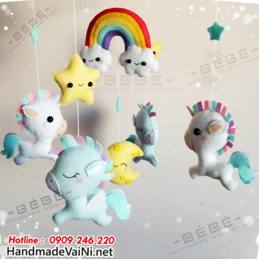 Đồ chơi treo nôi cũi ngựa Pony thiên thần dàng cho bé gái DC41