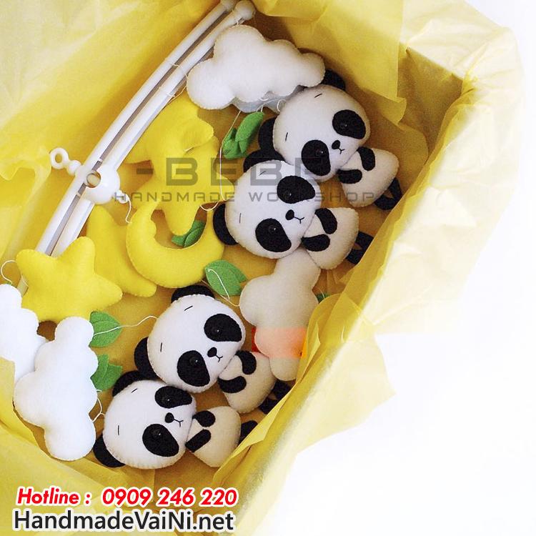 Đồ chơi treo nôi cũi handmade hình gấu DC59