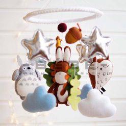 Đồ chơi treo nôi cũi handmade Totoro cú mèo lừa DC44