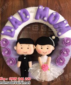 Quà tặng ngày cưới cô dâu chú rể hanhmade QC10