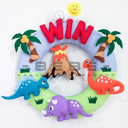 Quà tặng sinh nhật handmade cho bé gái, bé trai sn0038 -Thế giới khủng long