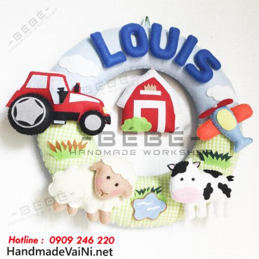 Quà tặng sinh nhật thôi nôi handmade chủ đề nông trại động vật sn0030