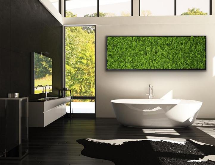 Tranh rêu trang trí phòng tắm