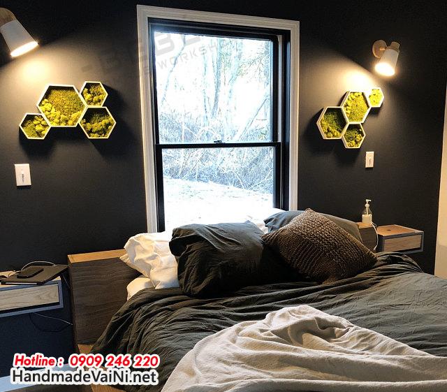 Tranh rêu/Thảm rêu trang trí phòng ngủ đã mở ra một xu hướng mới, mang cả không gian ngập tràn màu sắc thiên nhiên đến gần hơn với bạn.