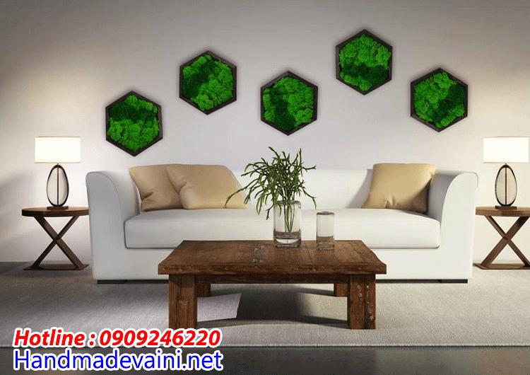Tường rêu handmade