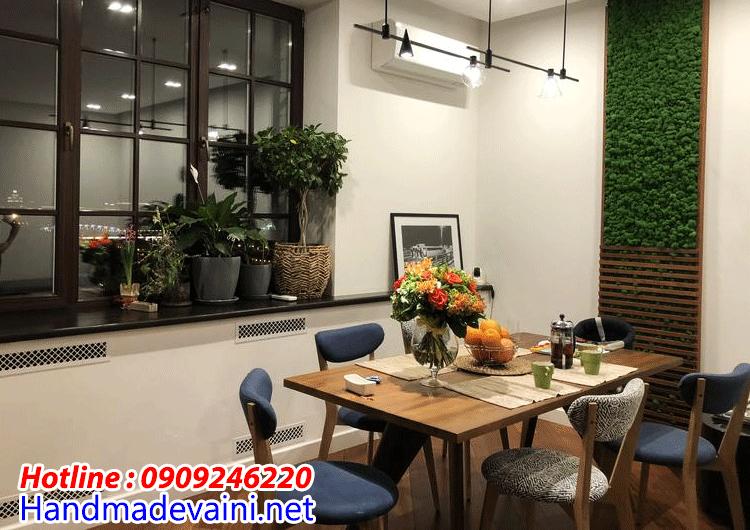 BứcTường rêu làm sống động không gian nội thất